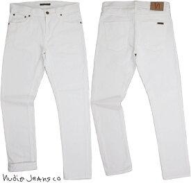 Nudie Jeans co/ヌーディージーンズ LEAN DEAN/リーンディーン CLEAN WHITE(クリーンホワイト) 13oz. comfort stretch denimストレッチ・スキニーホワイトデニムパンツ/白デニム