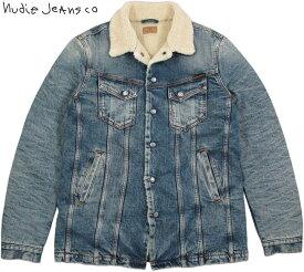 Nudie Jeans co/ヌーディージーンズ LENNY(レニー) HEAVY USED DENIM(ヘビーユーズド・デニム) 裏ボア付きデニムジャケット/裏ボア付き、デニム・ランチジャケット/ランチコート