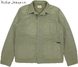 Nudie Jeans co/ヌーディージーンズ PAUL(ポール) WORKER JACKET キャンバス・ワーカージャケット・カバーオールジャケット・ワークジャケット BEECH GREEN(ライトオリーブ)