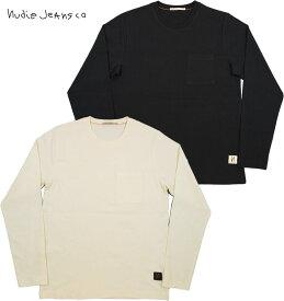 Nudie Jeans co/ヌーディージーンズ RUDI POCKET TEE ポケット付き、長袖Tシャツ/長袖無地カットソー