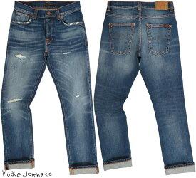 Nudie Jeans co/ヌーディージーンズ GRIM TIM(グリムティム)straight slim fit with normal rise BROKEN PROMISES(ブロークン プロミシーズ)/クラッシュ&リペアジーンズ