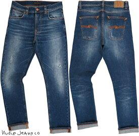 Nudie Jeans co/ヌーディージーンズ LEAN DEAN/リーンディーン BLUE LIGHTS(ブルーライツ) 12.5 oz. comfort stretch denimクラッシュ&リペア・ストレッチスキニーデニムパンツ