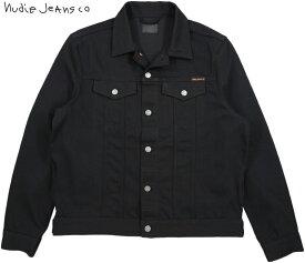 Nudie Jeans co/ヌーディージーンズ JERRY(ジェリー) DRY BLACK TWILL(ドライブラックツイル) ブラックデニムジャケット/ジージャン/Gジャン・デニジャケ