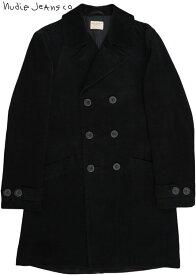 Nudie Jeans co/ヌーディージーンズ LUDDE(ルッデ) DOUBLE BREASTED CORD ダブルブレスト・コーデュロイ コート BLACK(ブラック)