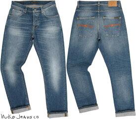 Nudie Jeans co/ヌーディージーンズ GRIM TIM(グリムティム) CONJUNCTIONS(コンジャクションズ) 12oz. comfort stretch denimボタンフライ スリムストレートフィット/ストレッチ・ジーンズ