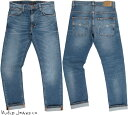 Nudie Jeans co/ヌーディージーンズTHIN FINN/シンフィン TIGHT FIT, NORMAL WAIST, LOW YOKE, NARROW LEG, OPENING ZIP FLY MID BLUE …