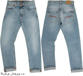 Nudie Jeans co/ヌーディージーンズTHIN FINN/シンフィン TIGHT FIT, NORMAL WAIST, LOW YOKE, NARROW LEG, OPENING ZIP FLY LIGHT BLUE COMFORT(ライトブルーコンフォート) スキニージーンズ/デニムパンツ