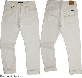 Nudie Jeans co/ヌーディージーンズ LEAN DEAN/リーンディーン ECRU(エクリュ)13 oz. comfort stretch denim ストレッチ・スキニーデニムパンツ/ホワイトデニム ECRU(エクリュ・ナチュラルホワイト)