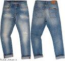 Nudie Jeans co/ヌーディージーンズ LEAN DEAN/リーンディーン BROKEN SUMMER(ブロークン サマー) 12 oz. comfort stretch denimクラッ…