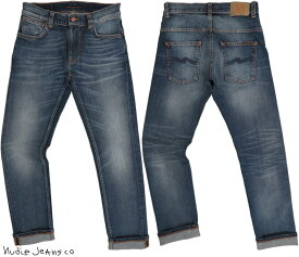Nudie Jeans co/ヌーディージーンズTHIN FINN/シンフィン TIGHT FIT, NORMAL WAIST, LOW YOKE, NARROW LEG, OPENING ZIP FLY BLUE TEMPLE(ブルーテンプル)