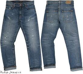 Nudie Jeans co/ヌーディージーンズTHIN FINN/シンフィン TIGHT FIT, NORMAL WAIST, LOW YOKE, NARROW LEG, OPENING ZIP FLY WORN ECRU(ウォーンエクリュ)