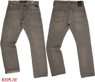 "REPLAY/再比賽M983""WAITOM""REGULAR SLIM FIT細長的直率的""方法噸""12.5oz LIGHT GREY DENIM"