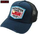 REPLAY/リプレイ AM4195 CAP WITH EMBROIDERED PATCH メッシュキャップ INDIGO GREY BLUE×BLACK(インディゴグレーブルー×ブラック)