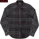 REPLAY/リプレイ M4032R CHECKED COTTON SHIRT コットンチェックシャツ/ネルシャツ BLACK/DARK BLUE(ブラック×ダークブルー)