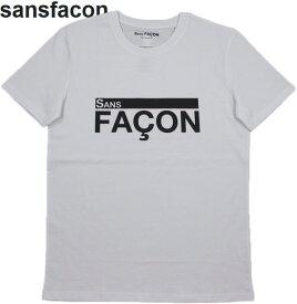 SANS FACON/ソンファソン T-SHIRT UNISEX FACON 半袖プリントTシャツ/カットソー WHITE(ホワイト)