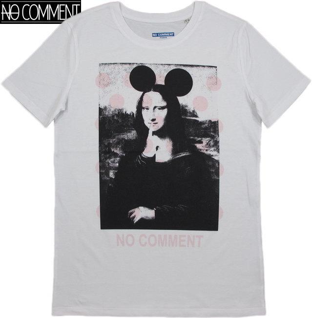 NO COMMENT PARIS/ノーコメントパリ T-SHIRT MEN SOLO MONALISA 半袖プリントTシャツ/カットソー WHITE(ホワイト)