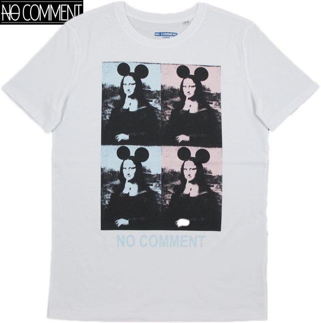 NO COMMENT PARIS/ノーコメントパリ T-SHIRT MEN 4 MONALISA 半袖プリントTシャツ/カットソー WHITE(ホワイト)