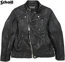 Schott/ショット DOUBLE BREST RIDERSダブルブレスト ライダース/ラムレザーライダース/羊革ライダースBLACK(ブラック)/Lot;3191064