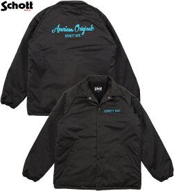 Schott/ショット#3192044 COACH JACKET コーチジャケット/ 裏ボア付き、ウィンドブレーカー BLACK(ブラック)