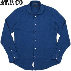 AT.P.CO/アティピコA146FRANCIA LINEN SHIRTSリネンシャツ/ワイドスプレッドカラー麻シャツ BLUE(ブルー)