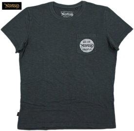 """NORTON/ノートン#NM500041 S/S T-SHIRT""""IGNITION""""ポケット付き、半袖Tシャツ BLACK(ブラック)"""