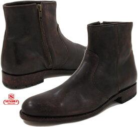 SENDRA/センドラ MODELO:10599 サイドジップ ブーツ DEEP SIENA WAX MARRON