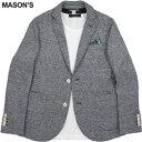 MASON'S/メイソンズ JT531 MAN BLAZER DAVINCI COTTON×LINEN JERSEYコットン×麻混テーラードジャケット,ブレザー GREY(グレー)/2GC2340