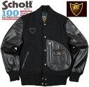 Schott×HTC #40205 D-POCKET ROUND STUDDED VARSITY JACKET ショット×エイチティーシーコラボレーション100周年記念限定 スタッズ入…