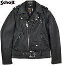 Schott/ショット #613UST ONE STAR RIDERS TALL ヴィンテージ ワンスター ライダースジャケット、トールモデル BLACK(ブラック)/Lot;7164