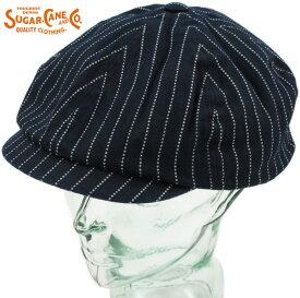 SUGAR CANE/シュガーケーン WABASH STRIPE APPLEJACK CAP ウォバッシュストライプ・アップルジャックキャップ/キャスケット A/NAVY(ネイビー)/SC02070