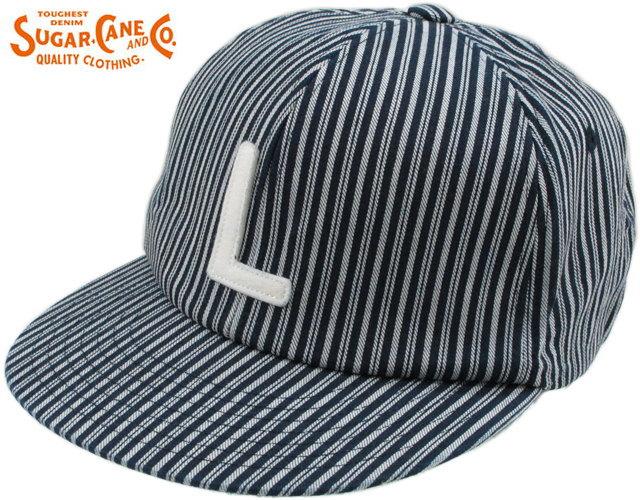 SUGAR CANE Light/シュガーケーンライト WORK FABRIC BASEBALL CAP ワークファブリック・ベースボールキャップ/デニムキャップ HICKORY(ヒッコリー)/SC02401