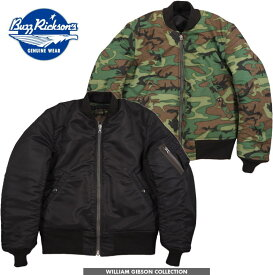 "BUZZ RICKSON'S/バズリクソンズ JACKET, FLYING, INTERMEDIATE Type BLACK MA-1""D-TYPE"" William Gibson Collection ウィリアム・ギブソン コレクション、ブラックMA-1 Dタイプ/BR13314"
