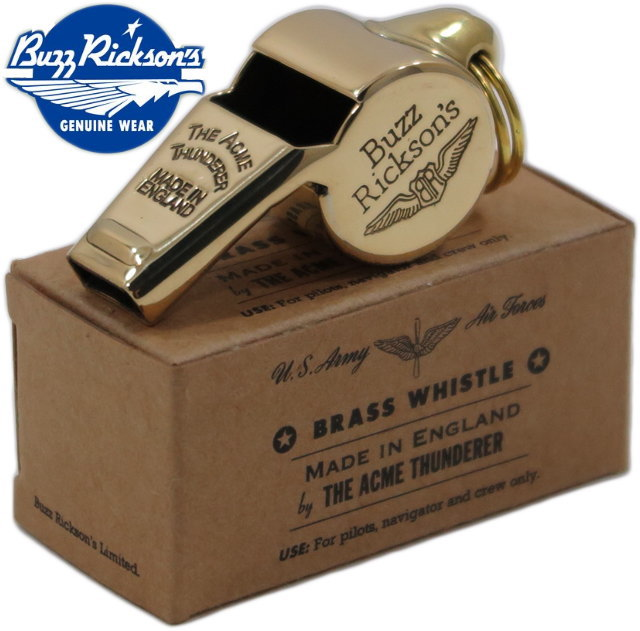 BUZZ RICKSON'S/バズリクソンズ BRASS WHISTLE THE ACME THUNDERER MADE IN ENGLANDバズリクソンズ アクメ社製 イエローブラス・ホイッスル/BR02374【楽ギフ_包装】