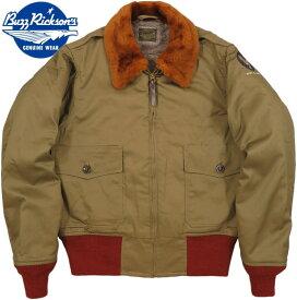 "BUZZ RICKSON'S/バズリクソンズ Jacket, Flying, Intermediate Type B-10""SUPERIOR TOGS Co., INC.""RED RIB スーペリア・トッグス社製、赤リブB−10 01)OLIVE DRAB(オリーブドラブ)/ Lot;BR14502"
