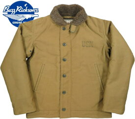 "BUZZ RICKSON'S/バズリクソンズ Jacket, Deck, Zip Type N-1 KHAKI""NAVAL CLOTHING DEPOT""DEMOTEX-ED N-1デッキジャケット/N-1デモテックス実名ラベルバージョン 01)KHAKI(カーキ)/Lot;BR12032"