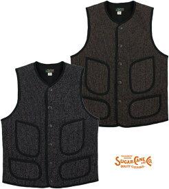 SUGAR CANE/シュガーケーン BEACH CLOTH VEST ビーチクロス ベスト/ジレSC13991