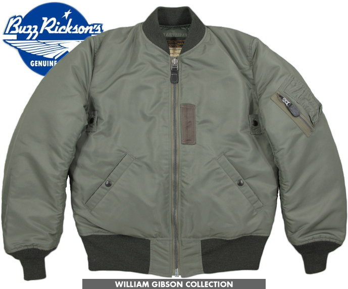BUZZ RICKSON'S/バズリクソンズ JACKET, FLYING, INTERMEDIATE Type BLACK MA-1 DOWN FILLED William Gibson Collection ウィリアム・ギブソン コレクション、MA-1ダウンジャケット/ダウンMA-1148) SAGE GREEN/Lot;BR13653-148