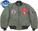 "BUZZ RICKSON'S/バズリクソンズ Jacket,Flying,Intermediate Type MA-1 ""LION UNIFORM INC.""77th Tac. Fighter Sqdn 20th Tac. Fighter Wing/第77戦闘飛行隊ライオンユニフォーム・MA-1ファースト/BR14113"