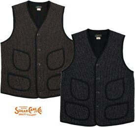 SUGAR CANE/シュガーケーン BEACH CLOTH VEST ビーチクロス ベスト/ジレSC14284