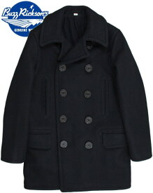 "BUZZ RICKSON'S/バズリクソンズ ENLISTED MAN'S OVERCOAT TYPE PEA COAT ""NAVAL CLOTHING FACTORY""WOOL LINING P-COAT/ロング丈ピーコート 01)NAVY/ Lot;BR14146"