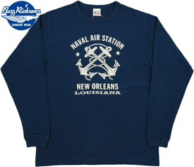 BUZZ RICKSON'S/バズリクソンズ L/S T-SHIRT N.A.S. NEW ORLEANS 長袖プリントTシャツ/カットソー NAVY(ネイビー)/BR68383