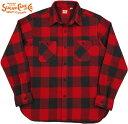 SUGAR CANE/シュガーケーン TWILL CHECK L/S WORK SHIRT ツイルチェック ワークシャツ/チェックシャツ/綿ネルシャツ RED(レッド)/SC28230