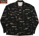 """STYLE EYES/スタイルアイズ""""ATOMIC""""CORDUROY SPORTS SHIRT アトミック・コーデュロイオープンカラーシャツ/スポーツシャツ BLACK(ブ…"""