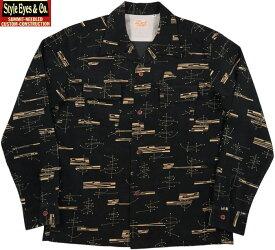 """STYLE EYES/スタイルアイズ""""ATOMIC""""CORDUROY SPORTS SHIRT アトミック・コーデュロイオープンカラーシャツ/スポーツシャツ BLACK(ブラック)/SE28261"""