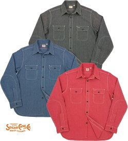 SUGAR CANE/シュガーケーン JEAN CORD L/S WORK SHIRT ジーンコードストライプ、長袖ワークシャツLot;SC25511