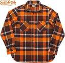 SUGAR CANE/シュガーケーン TWILL CHECK L/S WORK SHIRT ツイルチェック ワークシャツ/チェックシャツ/綿ネルシャツ ORANGE(オレンジ)/…
