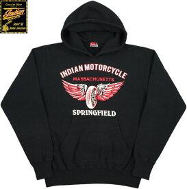 INDIAN MOTORCYCLE/インディアンモーターサイクル HOODED PARKA W/PRINTプリント入り スウェットパーカ/パーカー BLACK(ブラック)/IM68340