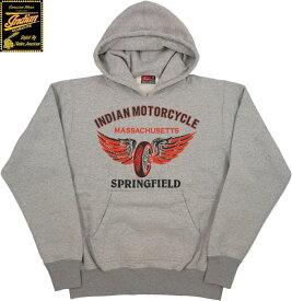 INDIAN MOTORCYCLE/インディアンモーターサイクル HOODED PARKA W/PRINTプリント入り スウェットパーカ/パーカー H.GRAY(ヘザーグレー)/IM68340