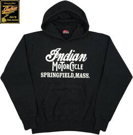 INDIAN MOTORCYCLE/インディアンモーターサイクル HOODED PARKA W/PRINTプリント入り スウェットパーカ/パーカー BLACK(ブラック)/IM68339
