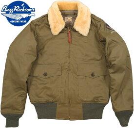 "BUZZ RICKSON'S/バズリクソンズ Jacket, Flying, Intermediate Type B-10""L.S.L. GARMENT CO.""NATURAL MOUTON COLLAR L.S.L. ガーメント社製、ホワイトムートン襟B−10 01)OLIVE DRAB(オリーブドラブ)/ Lot;BR14388"